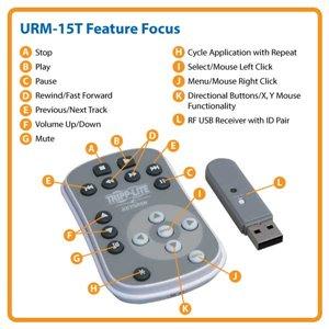 Wireless Presentation Remote with Convenient RF Technology