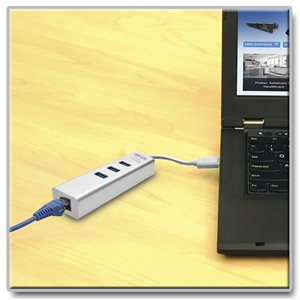 Connect to a Gigabit Network Without an Internal Ethernet Card and Add 3 USB 3.0 Ports