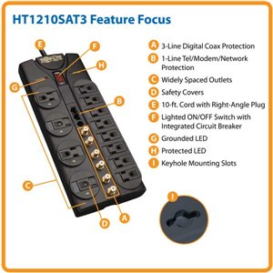 12-Outlet Surge Protection & Performance Enhancement For Home Theaters