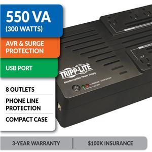 AVR550U Ultra-Compact Line-Interactive UPS with USB Port