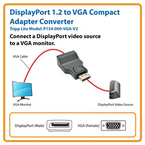 Connect Your VGA Monitor to a Computer with a DisplayPort 1.2 Output