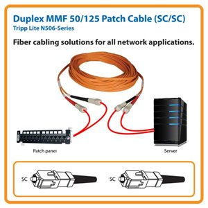 Duplex MMF 50/125 3 ft. Patch Cable with SC/SC Connectors