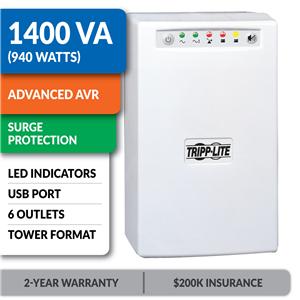OMNISMART1400 OmniSmart® 120V 1400VA 940W Line-Interactive UPS, Tower, USB Port