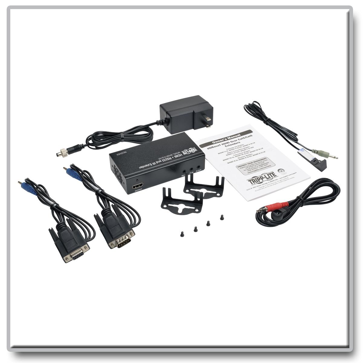 Tripp Lite Hdbaset Hdmi Over Cat5e 6 6a Extender Receiver 4k X 2k Wiring Diagram Serial And Ir Control Cat6