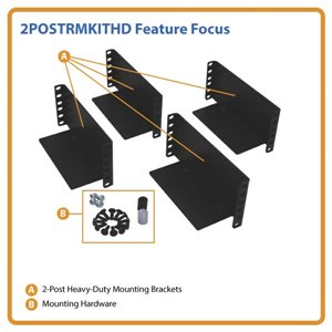 2-Post Rack Mount Kit for 3U and Larger UPS, Transformer, Battery Pack