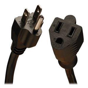 Heavy-Duty 10-ft. Cord Extends Existing Power Connection for Devices Requiring Higher-Rated, Heavy-Gauge Cable
