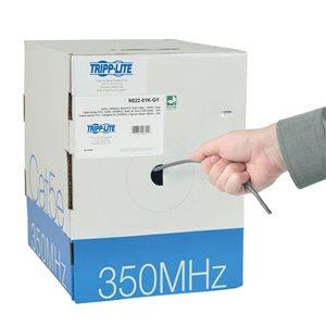 1000-ft. Cat5e 350MHz Bulk Solid-Core PVC Cable (Gray)