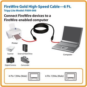 Connect FireWire Devices to a FireWire-Enabled Computer- 6 ft.