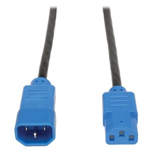4-ft., 18 AWG, 10A Standard Computer Power Cord (C13 to C14) with Blue Connectors