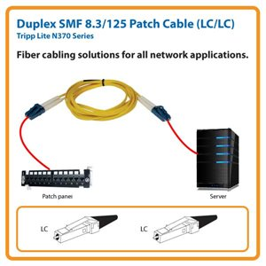 Duplex SMF 8.3/125 3 ft. Patch Cable with LC/LC Connectors