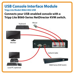 Connect a USB Console to a NetDirector® KVM Switch