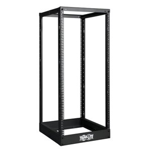 25U 4-Post Open Frame Rack Cabinet Square Holes 1000lb Capacity