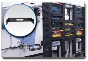 This 2U Wall Mount Patch Panel Bracket is the Ideal Alternative to a Full-Size Rack Installation