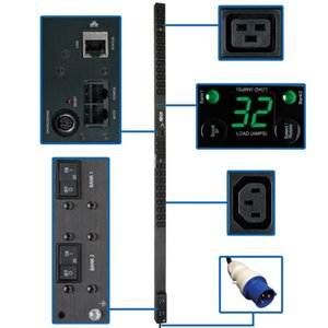 200-240V Power Distribution with 42 Outlets, a Digital Meter and Remote Power Monitoring