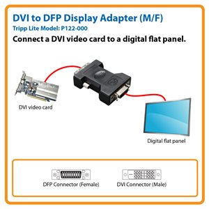 DVI to DFP Display Adapter (M/F)