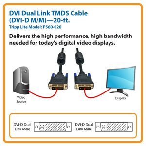 Connect a Standard DVI Monitor or Display to Your Computer Over Distances Up to 20 ft.