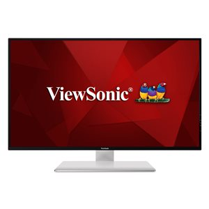 "ViewSonic VX4380-4K 43"" 4K IPS 2160p Frameless LED Monitor HDMI, DisplayPort, Daisy Chain"