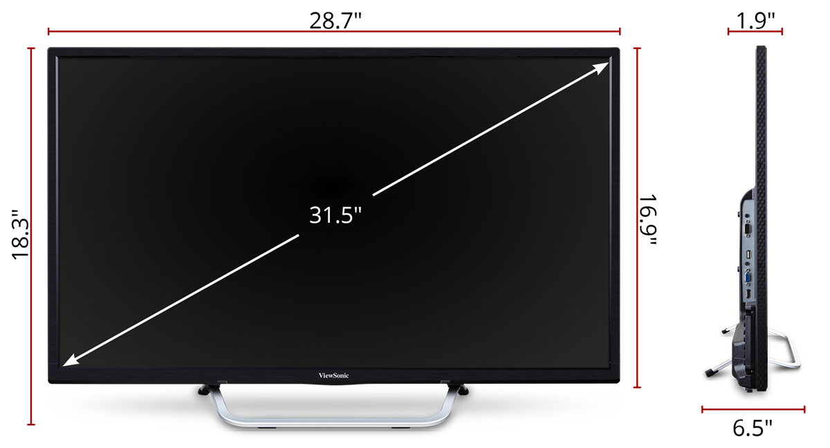 """CDE3203 32'' (31.5"""" viewable) Full HD Commercial LED Display"""