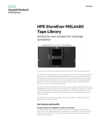 HPE StoreEver MSL6480 Tape Library: Setting the new standard for midrange automation data sheet
