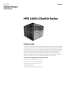 HPE 5400 zl Switch Series data sheet