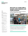 Microsoft Lync enables HPE to become a more responsive and nimble enterprise - Case Study