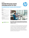 Datalink Networks works with HP to target emerging market for Lync