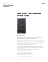 HPE 10500 TAA-Compliant Switch Series data sheet