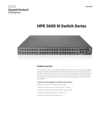 HPE 3600 SI Switch Series data sheet
