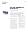 HPE RDX+ Removable Disk Backup System: A rugged, easy-to-use, affordable, USB powered removable backup solution data sheet