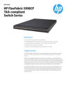 HPE FlexFabric 5900CP TAA-compliant Switch Series data sheet