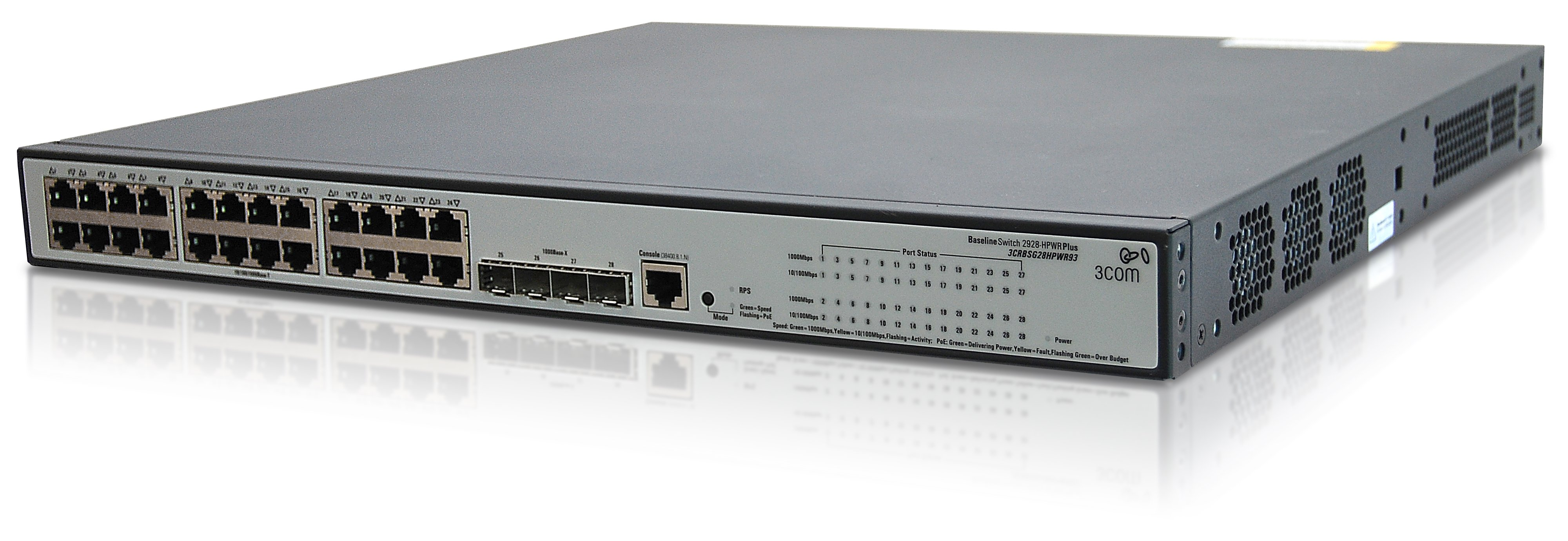 HPE 1910-24G-PoE Managed Switch - 24 x PoE Ports 20 x RJ45 4 x Exp