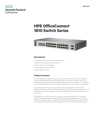 HPE OfficeConnect 1810 Switch Series - Data sheet