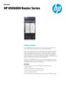 HPE HSR6800 Router Series data sheet