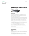 HPE MSR3000 TAA-Compliant Router Series data sheet