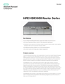 HPE MSR3000 Router Series - Data sheet