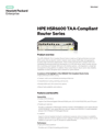 HP HSR6600 TAA-Compliant Router Series
