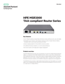 HPE MSR2000 TAA-compliant Router Series data sheet