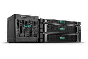 Serveur d'entrée de gamme HPE ProLiant MicroServer Gen10 X3216 monoprocesseur 8 Go utilisables 4 lecteurs LFF non enfichables à chaud SATA alimentation 200 W