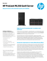 HPE ProLiant ML350 Gen9 Server High performance with unmatched capacity and reliability data sheet