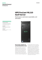 HPE ProLiant ML110 Gen9 Server with ClearOS for SMBs data sheet
