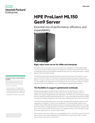 HPE ProLiant ML150 Gen9 Tower Server for SMBs and Enterprise data sheet