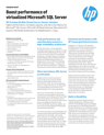 Boost performance of virtualized Microsoft SQL Server with HP ProLiant BL460c Virtual Server Cluster Solution solution brief