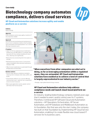 HP Cloud Service Automation helps create IT cloud services at biotech company