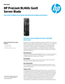 HPE ProLiant BL460c Gen9 Server Blade: The world's leading server blade with advanced compute performance for workload acceleration data sheet