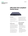 HPE 5920 TAA-compliant Switch Series data sheet