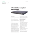 HPE 5800 TAA-compliant Switch Series data sheet