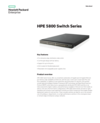 HPE 5800 Switch Series data sheet