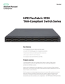 HPE FlexFabric 5930 TAA-Compliant Switch Series data sheet
