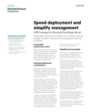 Speed deployment and simplify management with HPE Synergy for Microsoft Exchange Server solution brief