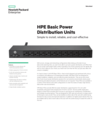 HPE Basic Power Distribution Units data sheet